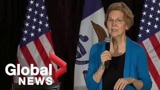U.S. 2020 presidential hopeful Elizabeth Warren tests the waters in Iowa