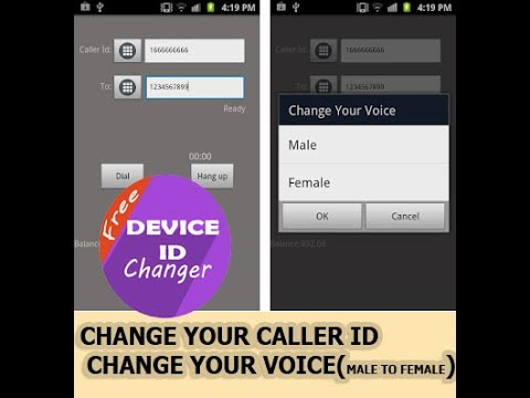 Phone Id Changer/Caller Id Changer/Voice Id Changer(free)