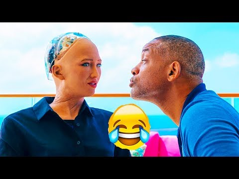 Will Smith Tried To Kiss Sophia AI Robot - See what happened next