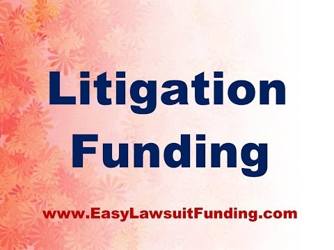 Litigation Funding - Pre Settlement Lawsuit Loans - Settlement Loans
