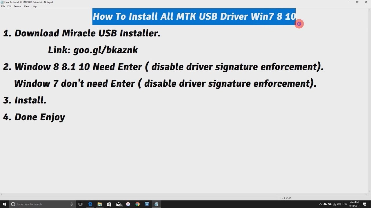 download mtk usb driver windows 7 64 bit