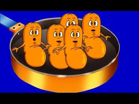 FIVE FAT SAUSAGES  nursery rhymes