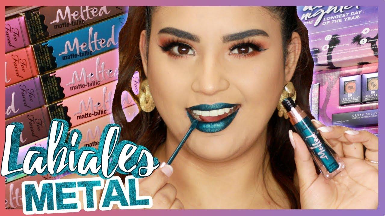 Labiales de moda y sombras metálicas Productos de maquillaje NUEVOS
