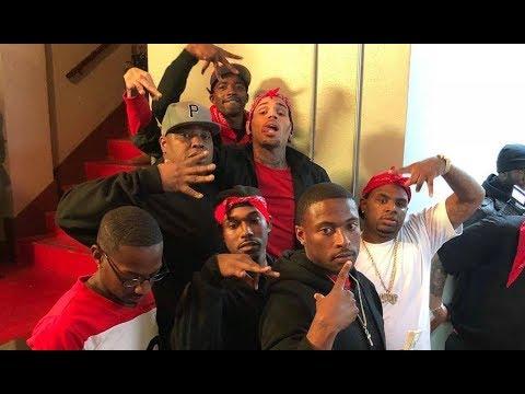 Chris Brown Proves He's Really A Piru Blood Brings The Homies On Movie Set
