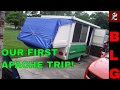 APACHE POP UP CAMPER FIRST TRIP + EASY CANOPY IDEA