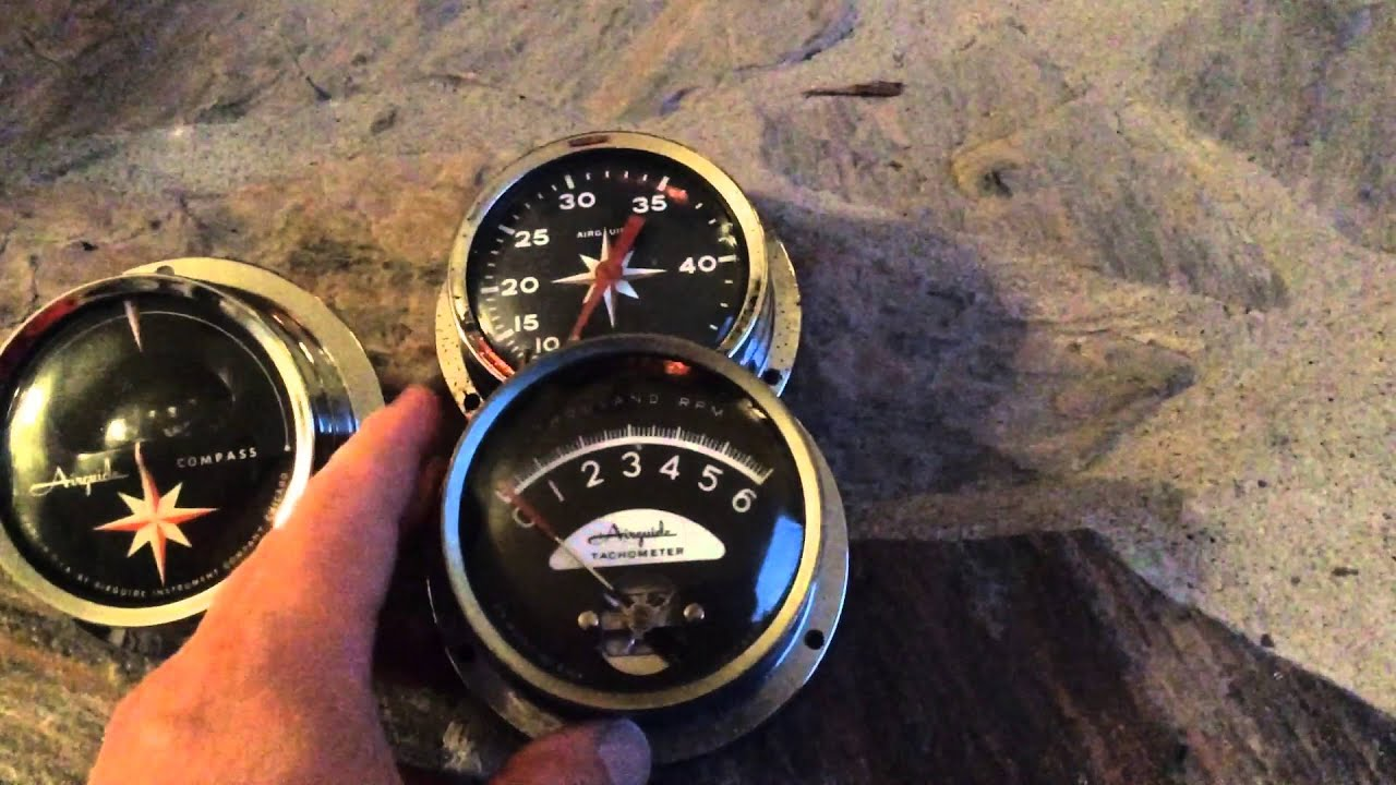Airguide tach, speedo, and comp for hydro build on