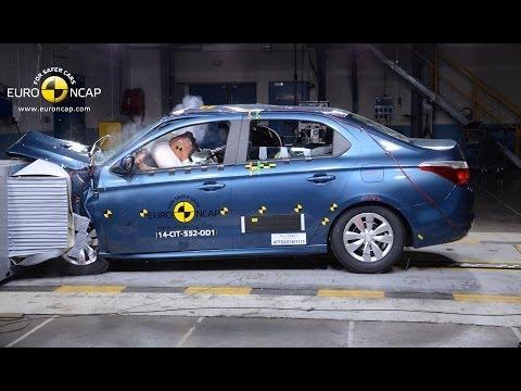 Peugeot 301 / Citroen C-Elysee Crash Test Euro NCAP