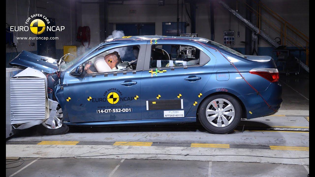 peugeot 301 / citroen c-elysee crash test euro ncap - youtube