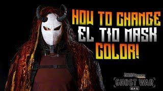 GHOST WAR - How to change the color of EL TIO mask!
