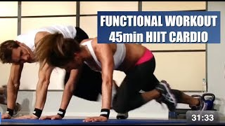 Cardio HIIT Workout 45min Fitnessclass