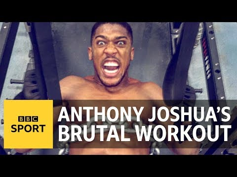 Anthony Joshua: Three gym-loving lads try to match AJ's workout - BBC Sport
