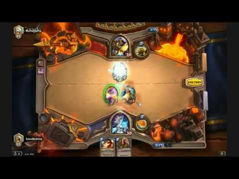 HearthStone Heroes of Warcraft Gameplay 1 with BG Commentary