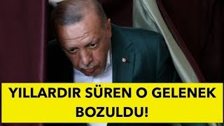 AKP'DE BU DA OLDU! YILLARDIR SÜREN GELENEK BOZULDU!
