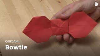 Origami bowtie