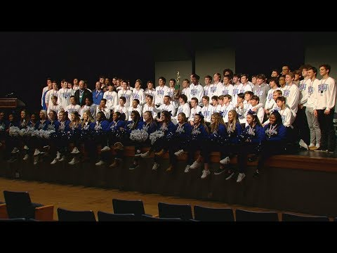 Wyoming High School celebrates undefeated, state championship football team