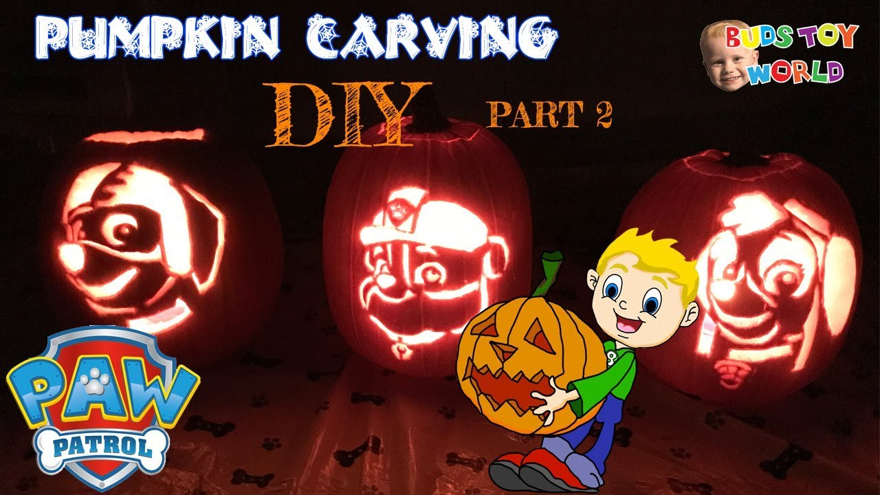 Paw Patrol Diy Pumpkin Carving Easy Kids Diy Rubble Zuma