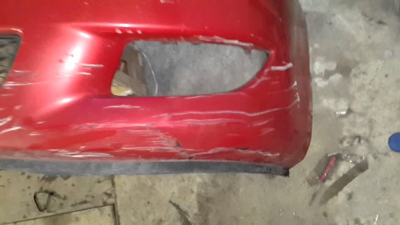 Ремонт бампера Mazda 3 часть 2