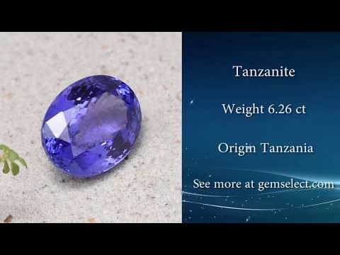 BRILLIANT VIOLET BLUE Tanzanite - GemSelect Video Review: