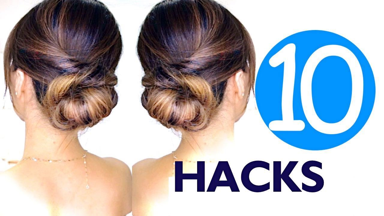 lazy girls hair hacks & hairstyles