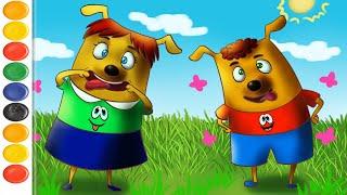Мультфильм про собак! Щенки Бублик и Кисточка - мультики для детей. Развивающие мультфильмы детям