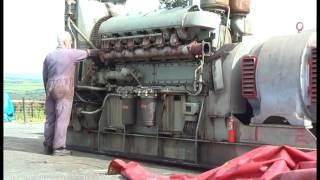 Самые мощные двигатели в мире !!! Удивительный Запуск дизельных двигателей