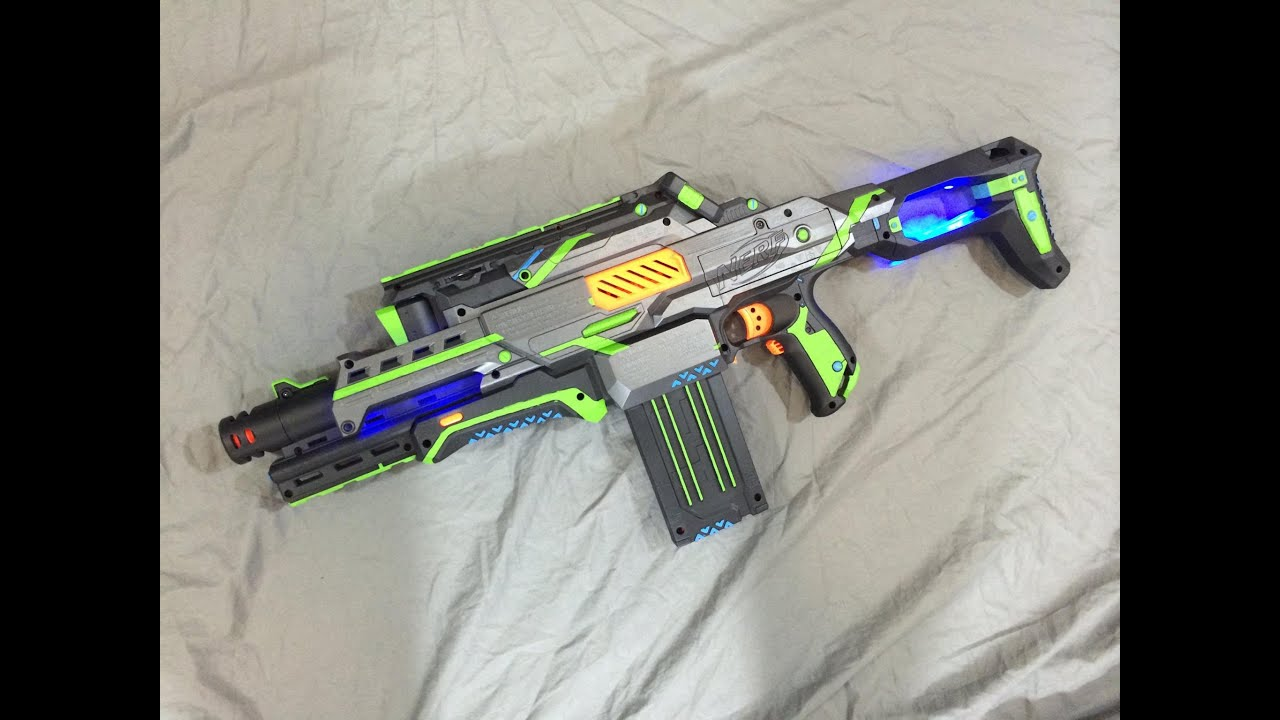 Mod Nerf Cam Modification Leds Amp Paint Job Youtube