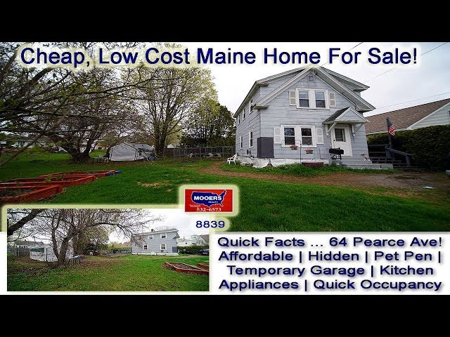Real Estate Video | Maine Home For Sale 64 Pearce Ave Houlton ME MOOERS REALTY #8839