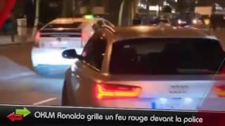 OKLM Ronaldo grille un feu rouge devant la police