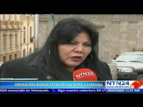 VIDEO: OPOSICIÓN BOLIVIANA BUSCA RESULTADO SIMILAR AL VISTO EN VZLA Y ARGENTINA EN EL PRÓXIMO REFERENDO