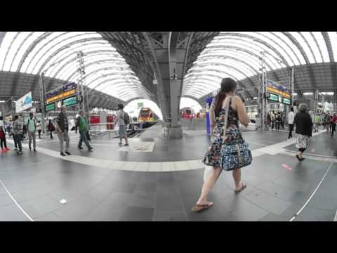 Frankfurt/M Hbf in 360° - Central Train Station in 360°