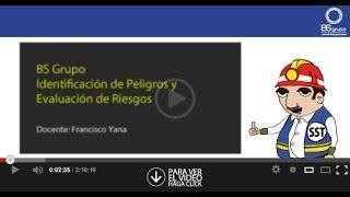 Webinar Identificación de Peligros y Riesgos IPERC