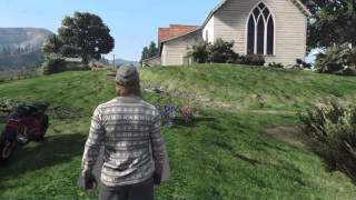 GTA V - Mysterious Open Grave Site (Hole In Map)