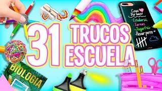 31 TRUCOS PARA LA ESCUELA QUE TIENES QUE SABER ❤️COMPILACIÓN