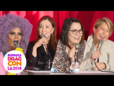 The Simpsons with Raja, Yeardley Smith, Tress MacNeille, Carolyn Omine at RuPaul's DragCon 2018: LA