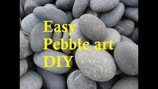 Desk Decorative pebble art | Pebble diy