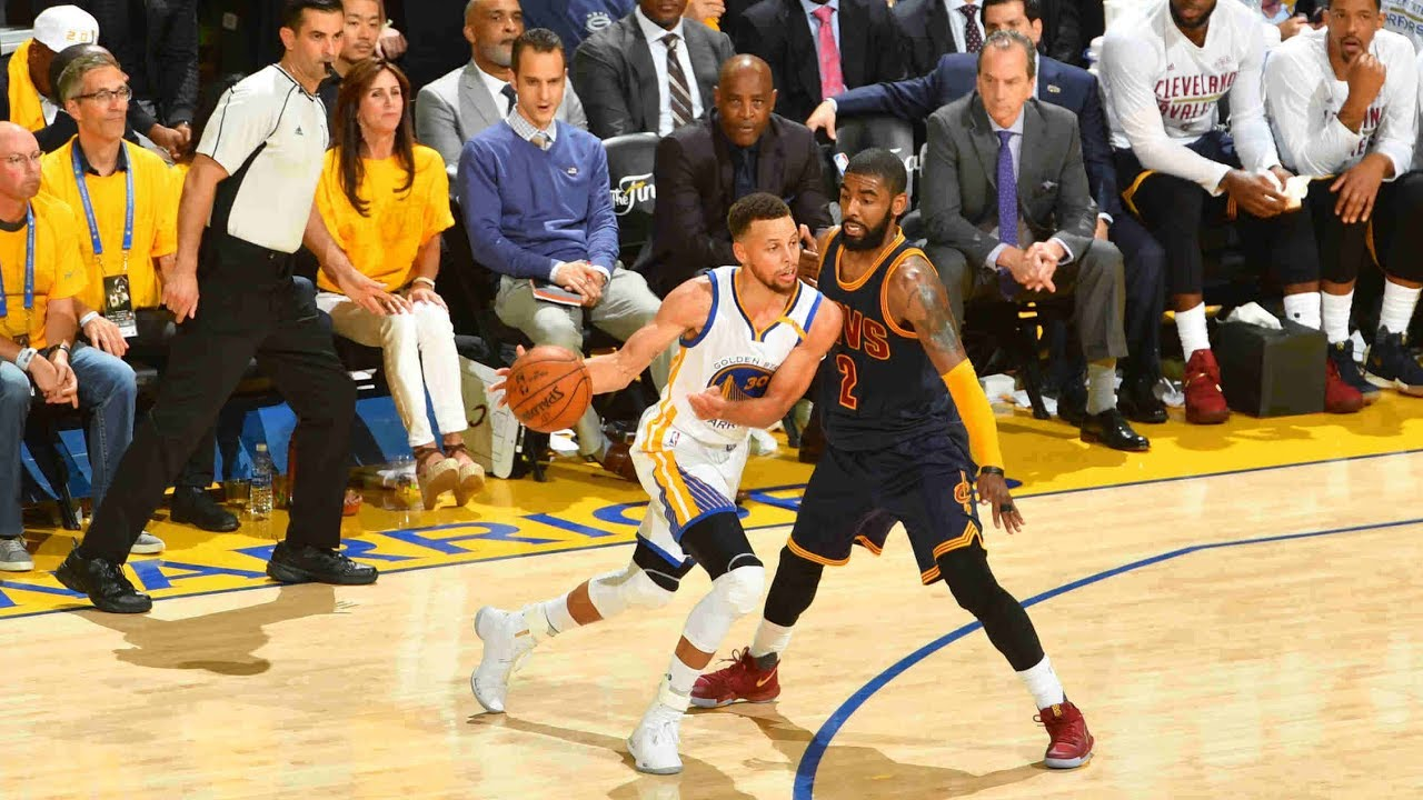 online store 80955 e28ab Steph Curry and Kyrie Irving Duel in NBA Finals 2017 Game 1