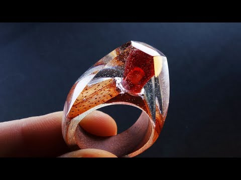 How to make a LARGE RING WITH A POMEGRANATE SEED INSIDE | DIY