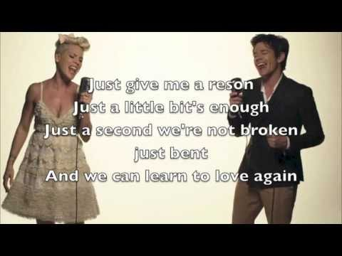Pink - Just give me a Reason, Lyrics