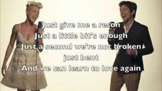 Pink - Just give me a Reason, Lyrics