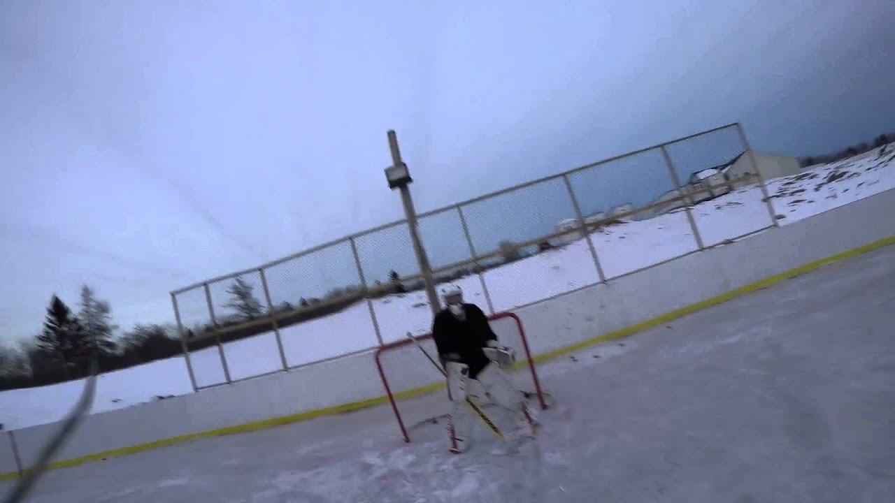 best backyard rink with zamboni youtube