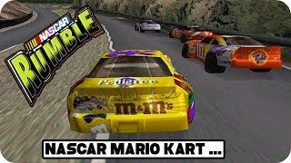 NASCAR Meets Mario Kart - NASCAR Rumble Intro & Gameplay | PS1 HD