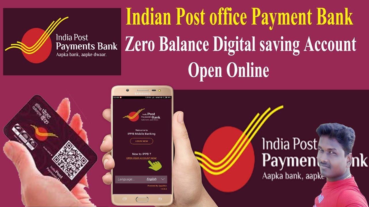 Indian post office payment bank zero balance Digital saving Account open  online Tech and Technics