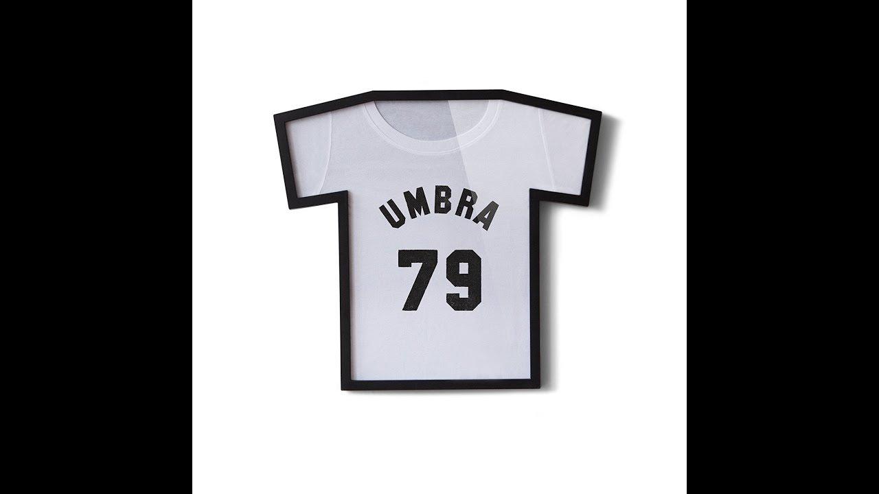 Unboxing Umbra T Frame Cadre Photo Forme de T Shirt Noir - YouTube