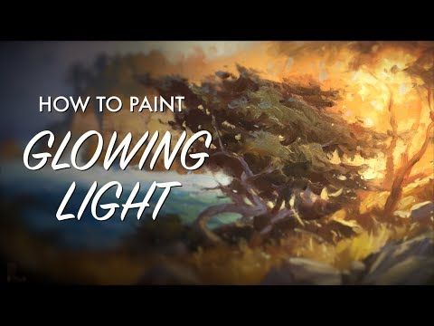How to Paint Glowing Light