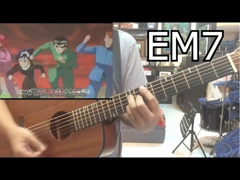 Yu yu Hakusho (Ghost Fighter) Opening theme (Chords) (Hohoemi No Bakudan by Matsuko Mawatari)