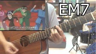 Yu yu Hakusho (Ghost Fighter) Opening theme (Chords) (Hohoemi No Bakudan by Matsuko Mawatari)