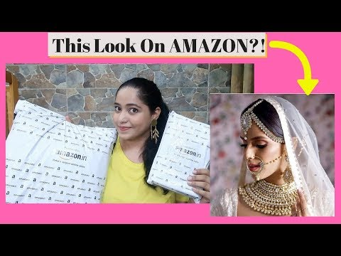 Modern Bride Look From Amazon || Lehenga and Bridal Jewellery Review