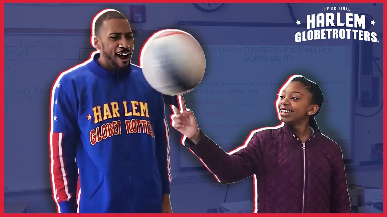 Surprise Classroom Visit | Harlem Globetrotters