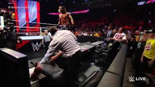 Dean Ambrose is hit head on concrete block