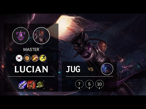 Lucian Jungle vs Rek'Sai - KR Master Patch 10.16